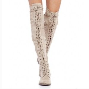 Free People Tennessee Over the Knee Lace Up Boots